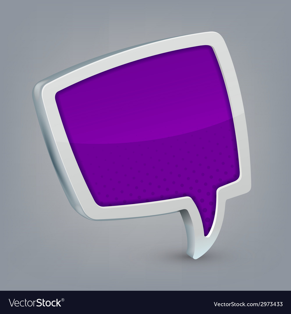 Purple cloud speech vector