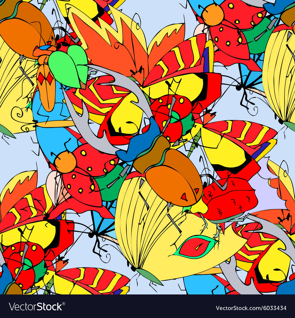 Background of the insects vector