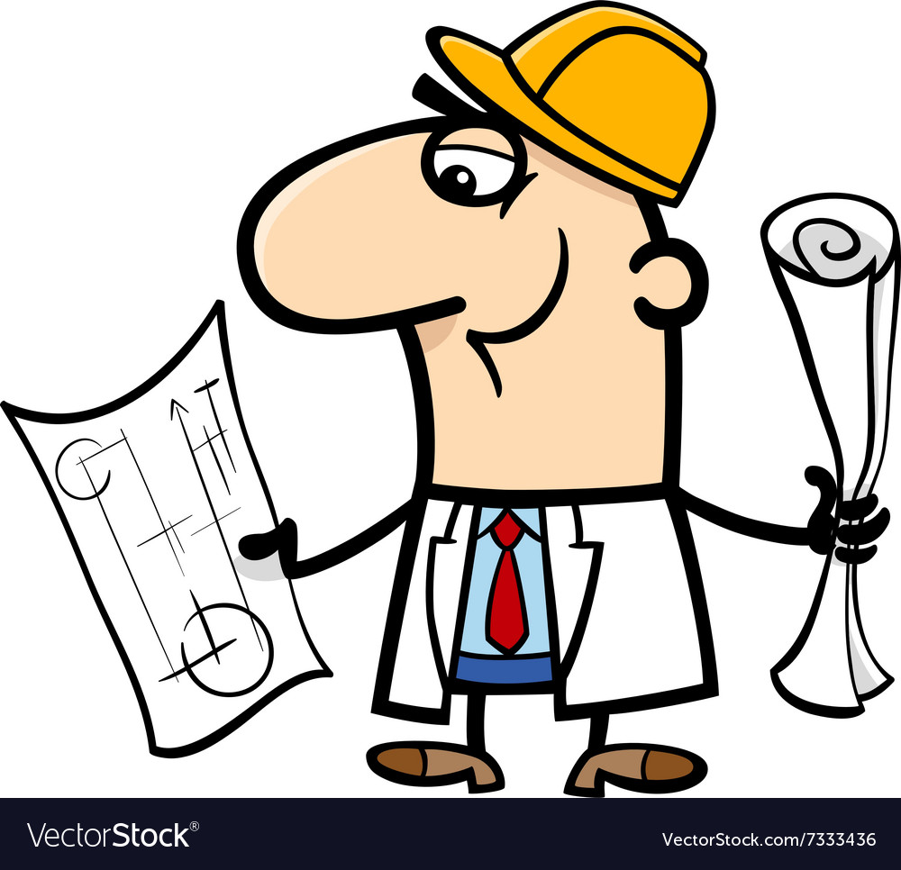 Engineer cartoon vector