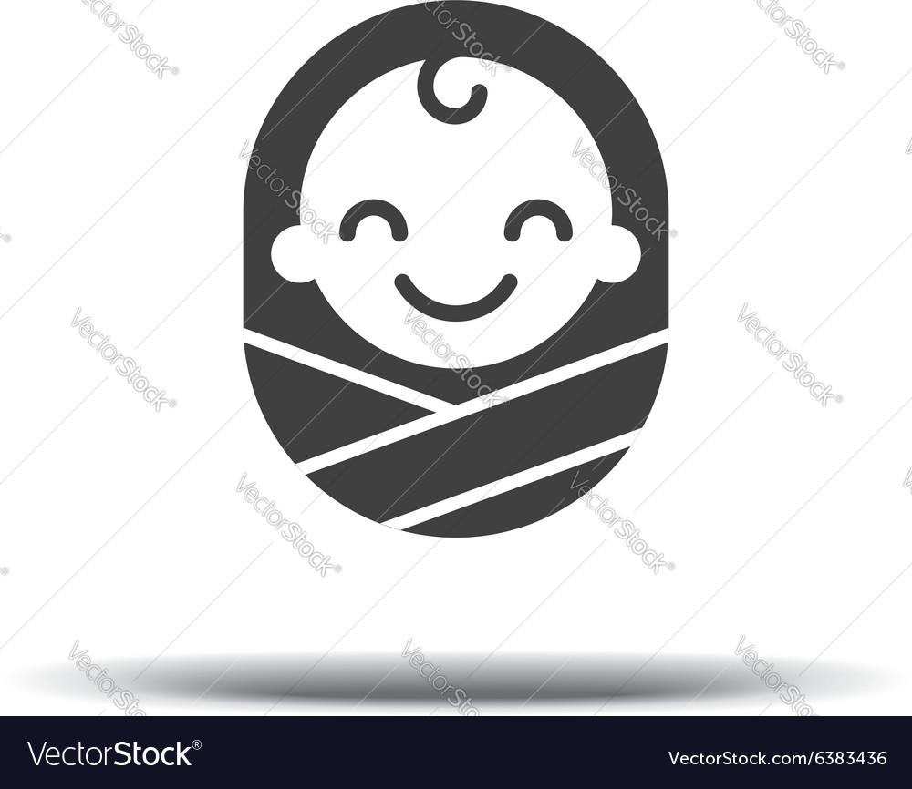 Logo design baby cheerful joyful kid logo design vector