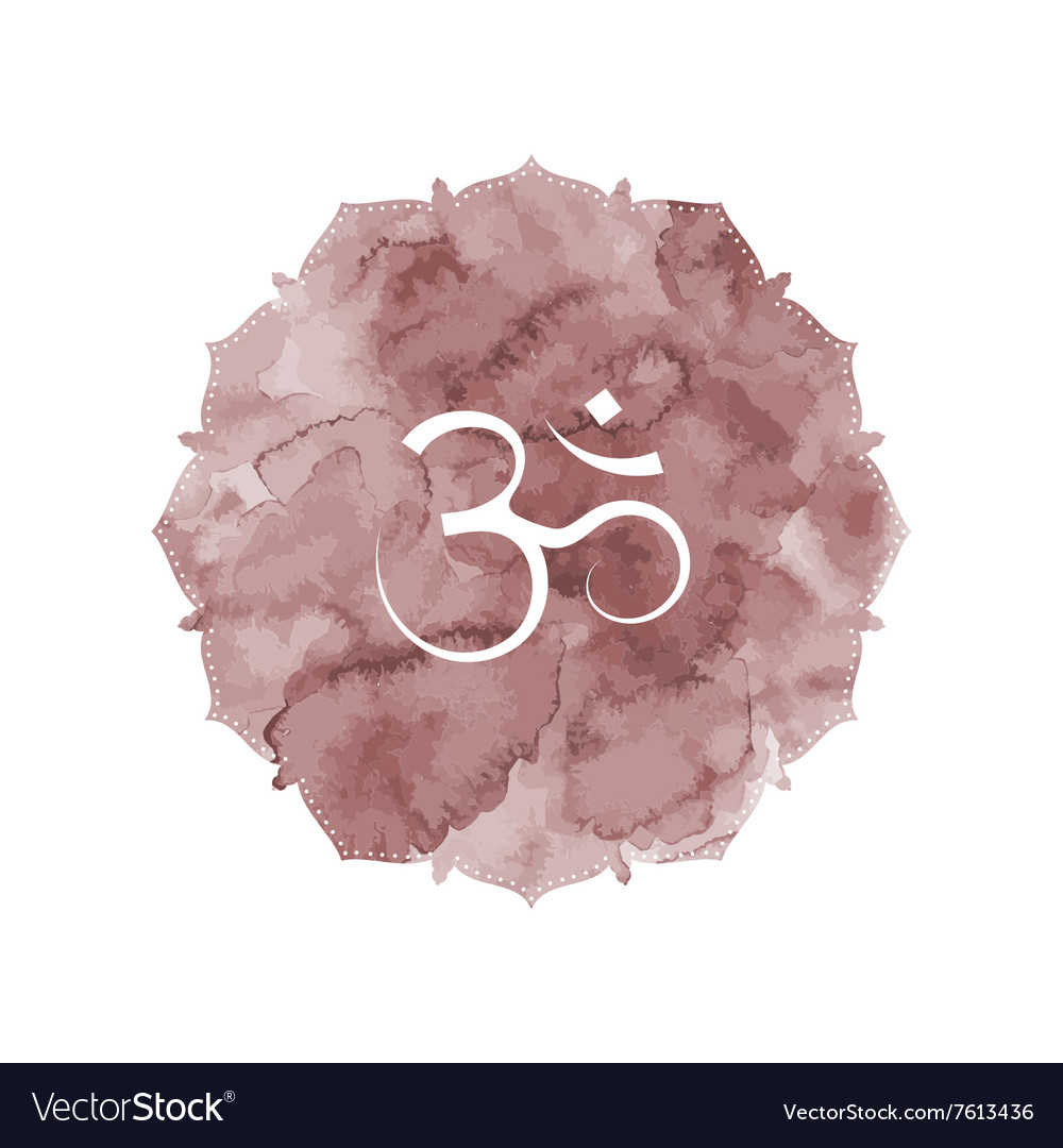 Om sign vintage in vector