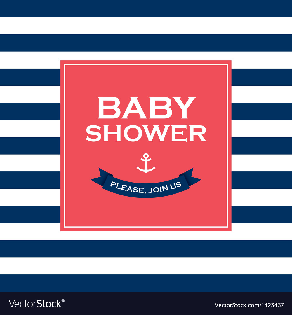 Baby shower join us vector
