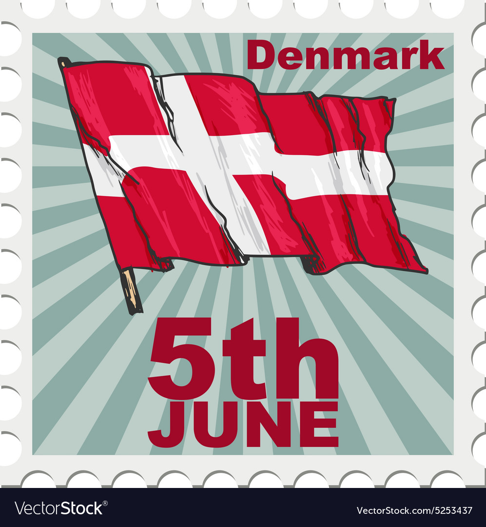 National day of denmark vector