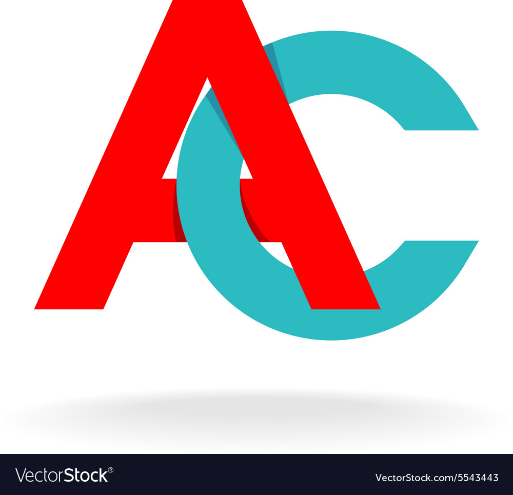 A and c letters logo vector