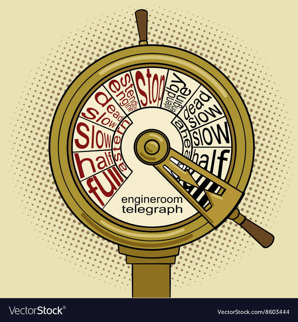 Engine order telegraph pop art vector