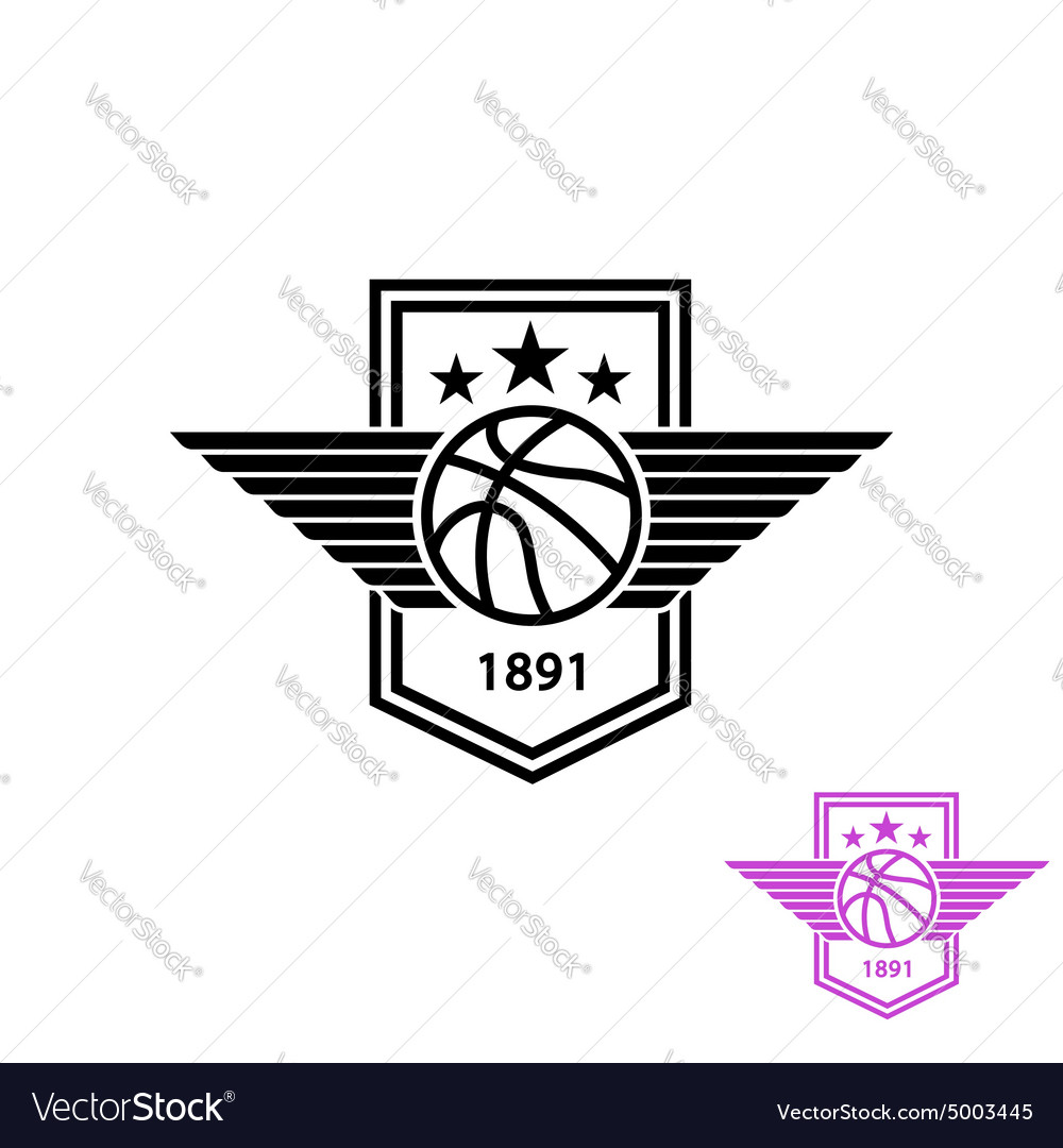 Basketball ball with wings tshirt print sport vector