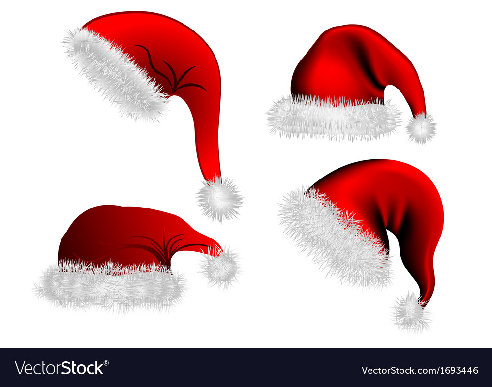 Christmas hat vector