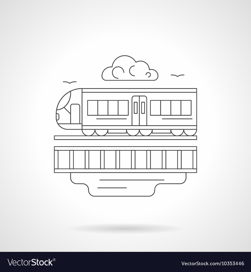 City train detailed line vector