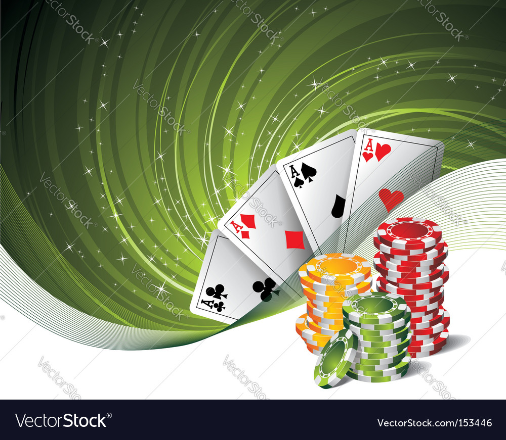 On a casino theme vector