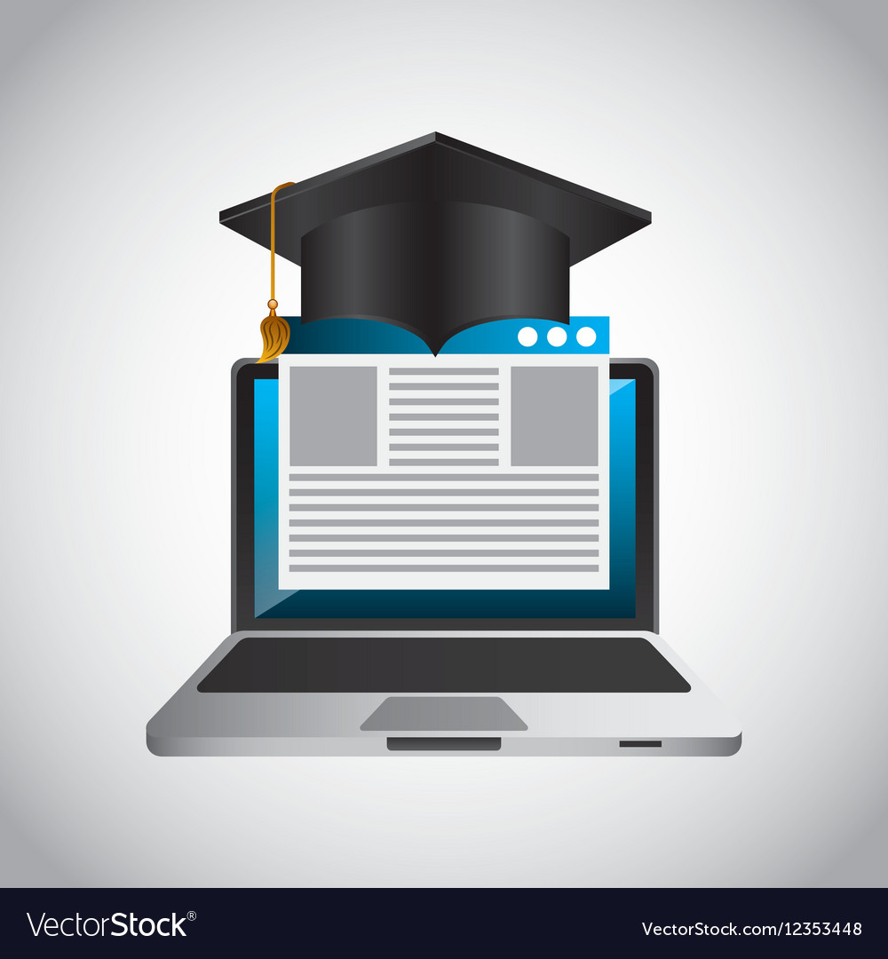 Distance education elearning icon vector