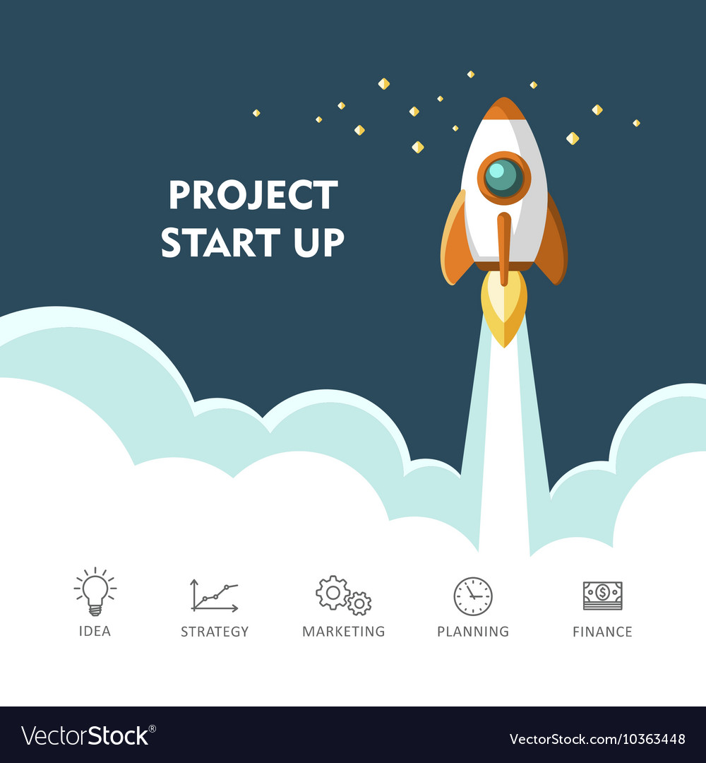 Project start up new business vector