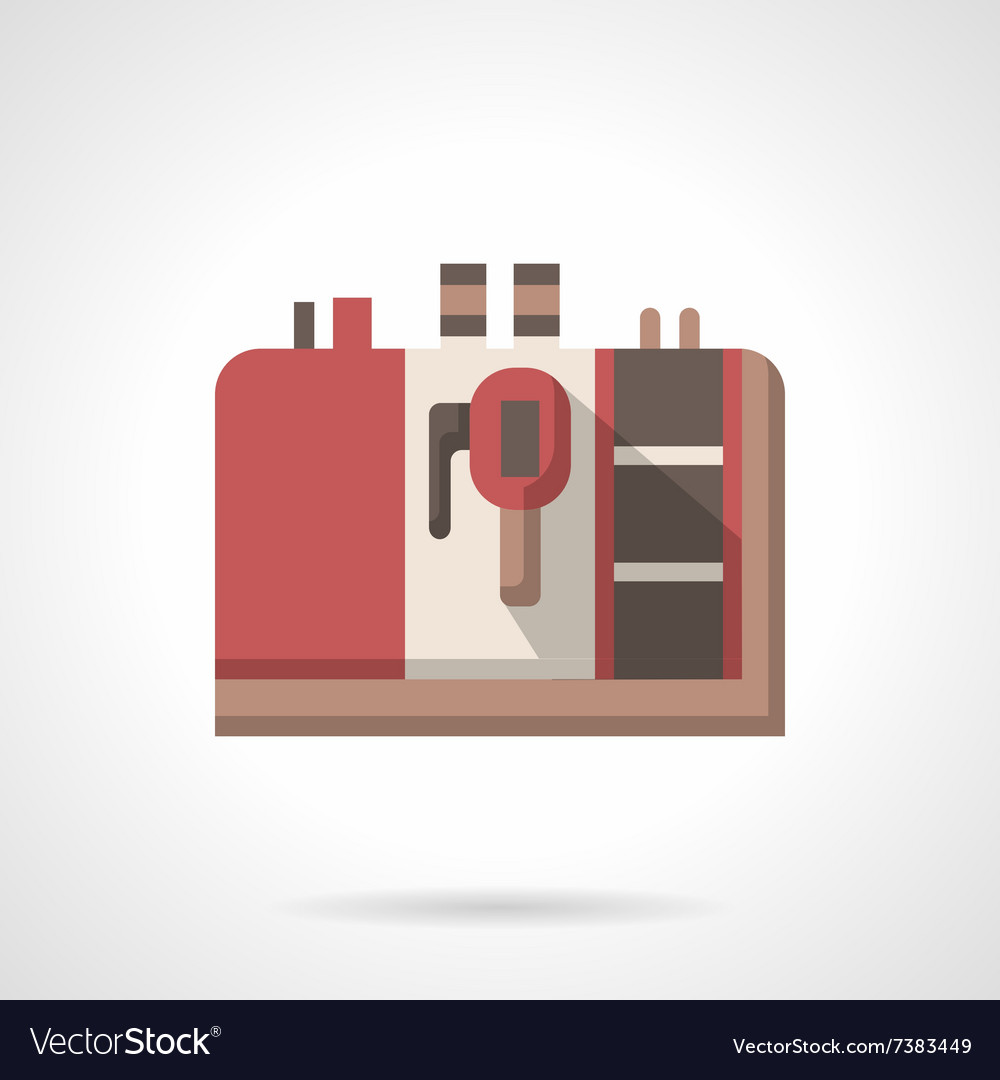 Coffee equipment icon red espresso machine vector