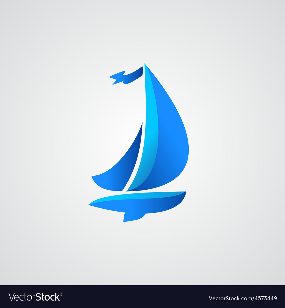 Yacht icon vector
