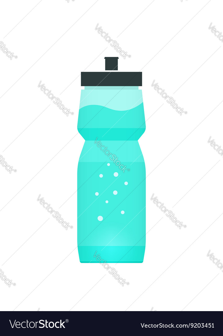Sport bottle with blue water vector