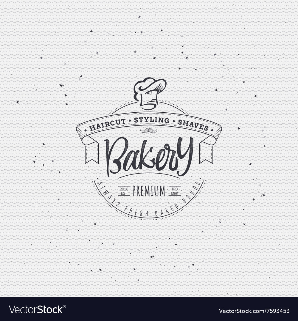 Bakery handwritten inscription hand drawn vector