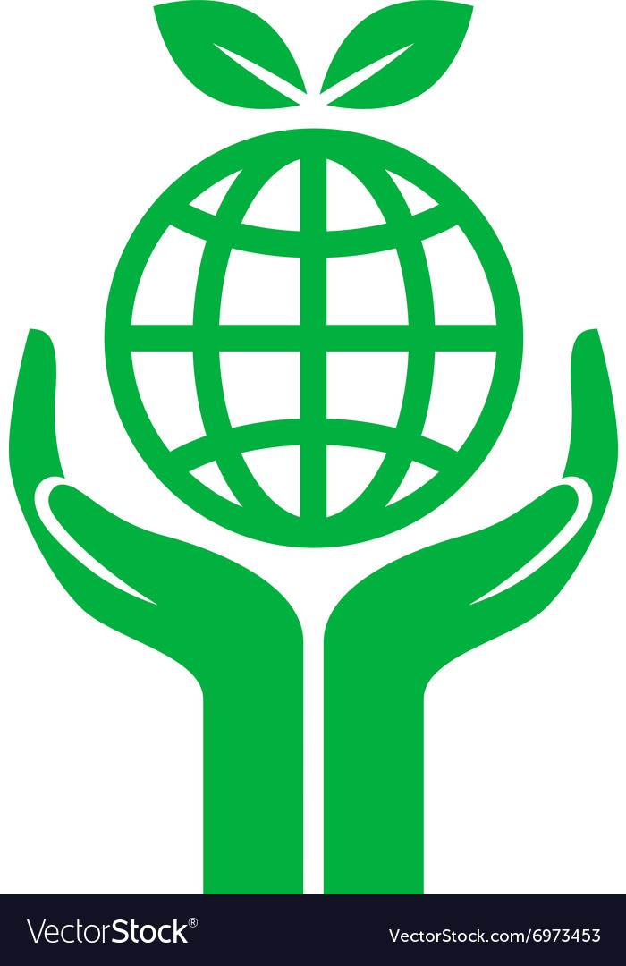 Icon earth care vector