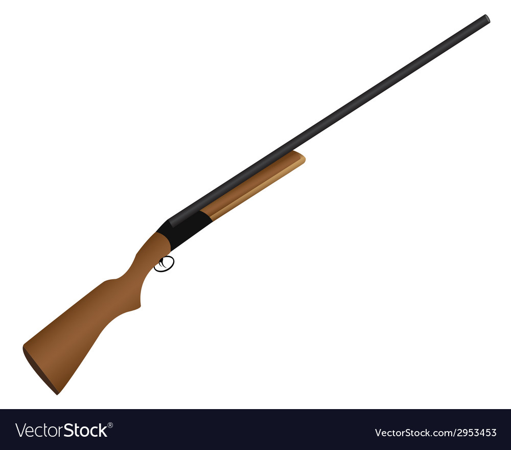 Shotgun for hunting vector
