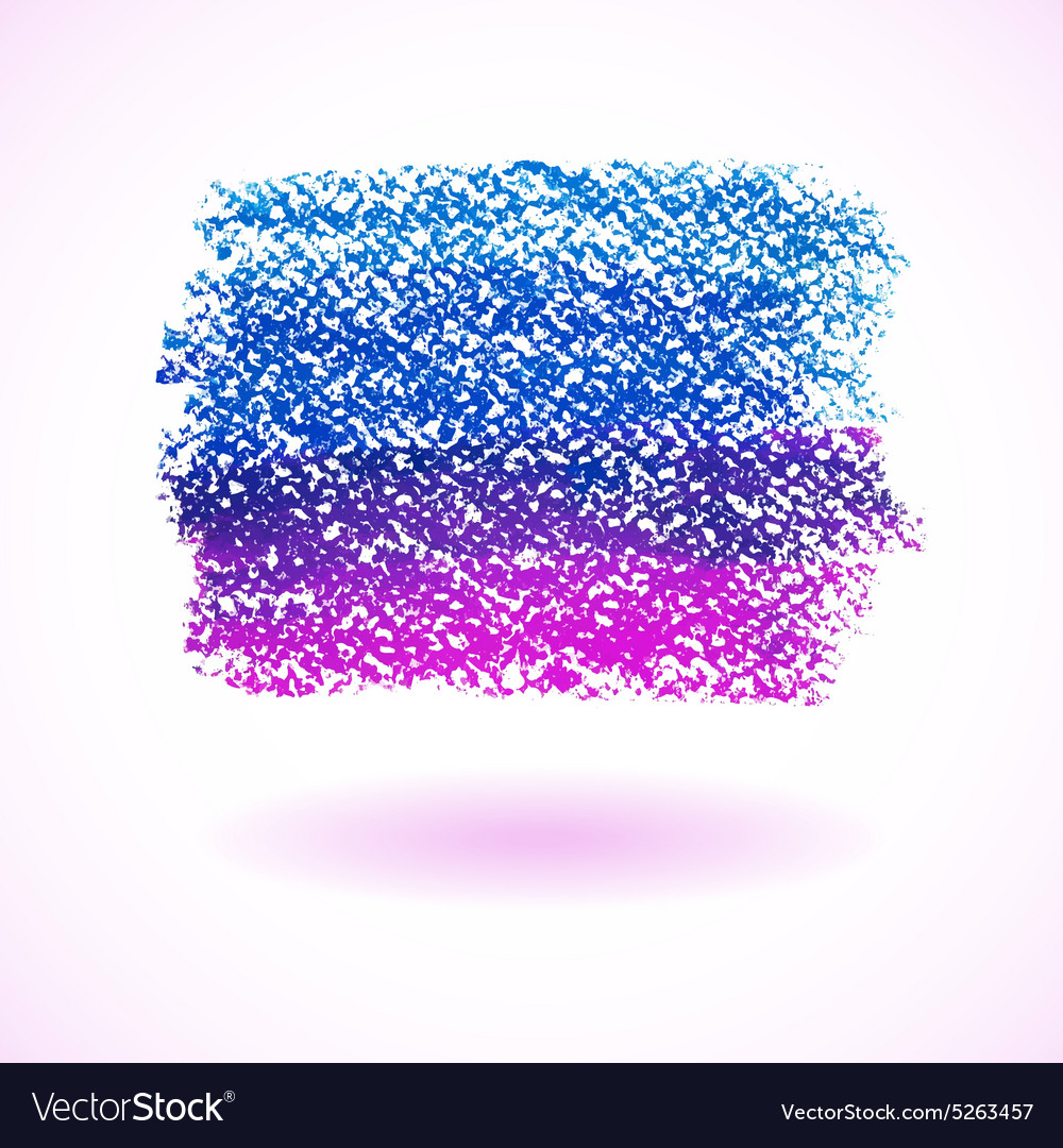 Blue and purple pastel crayon spot vector