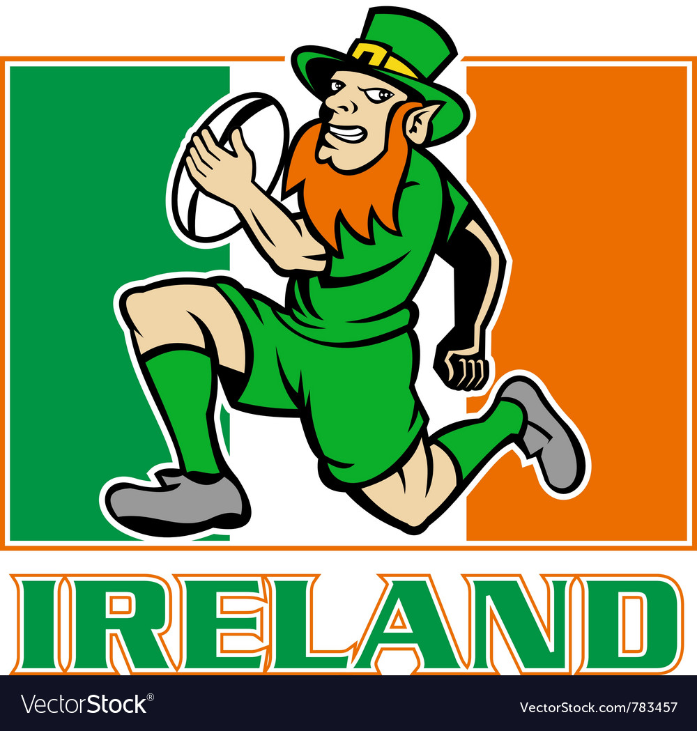 Ireland rugby flag vector