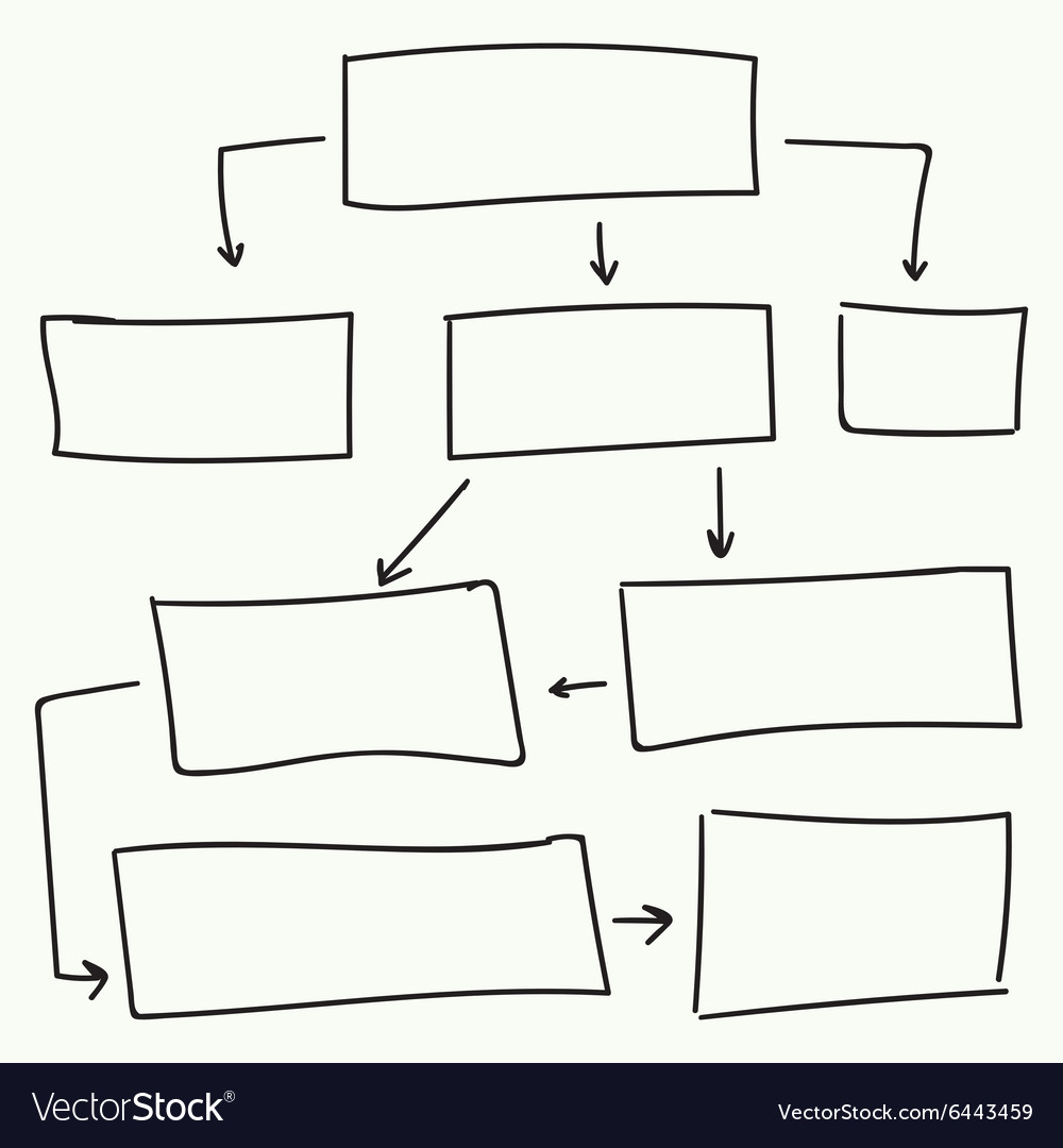 Abstract flowchart design vector