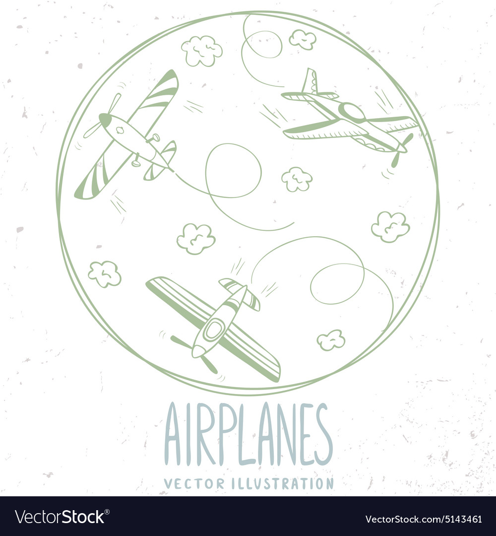 Aircraft line vector