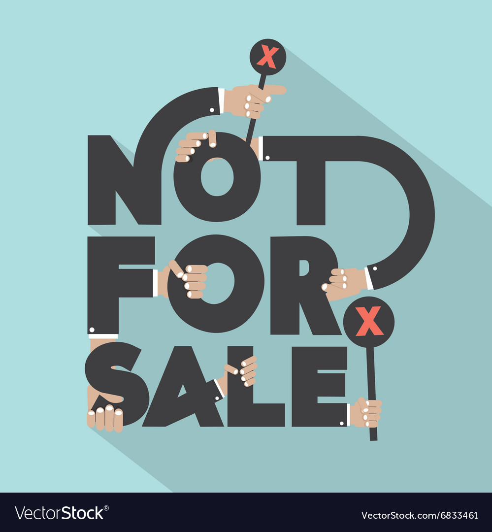 Not for sal typography design vector