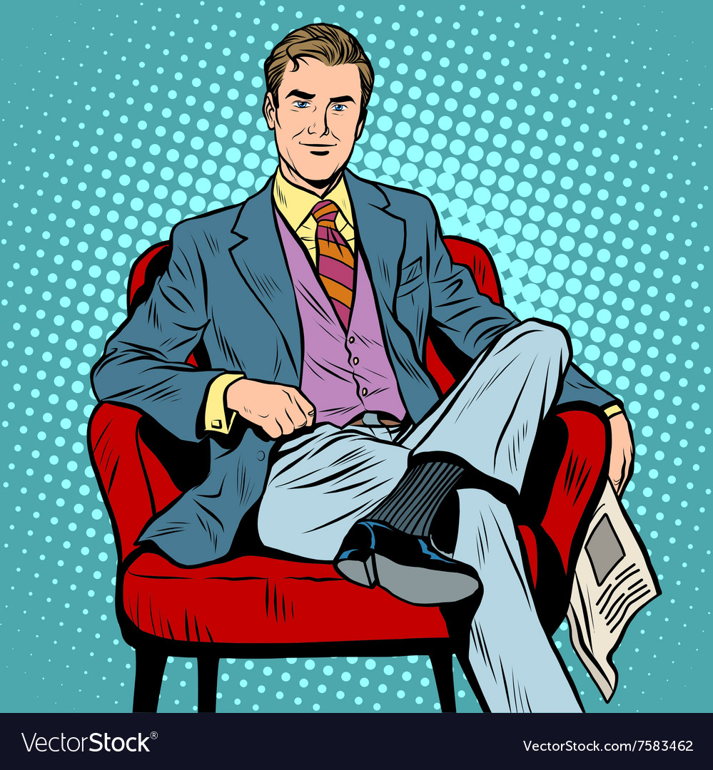 Boss businessman director vector