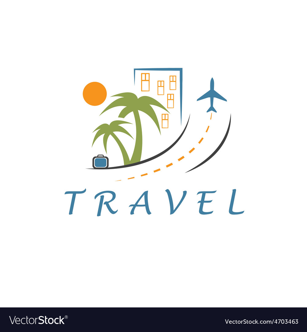 Travel design template vector