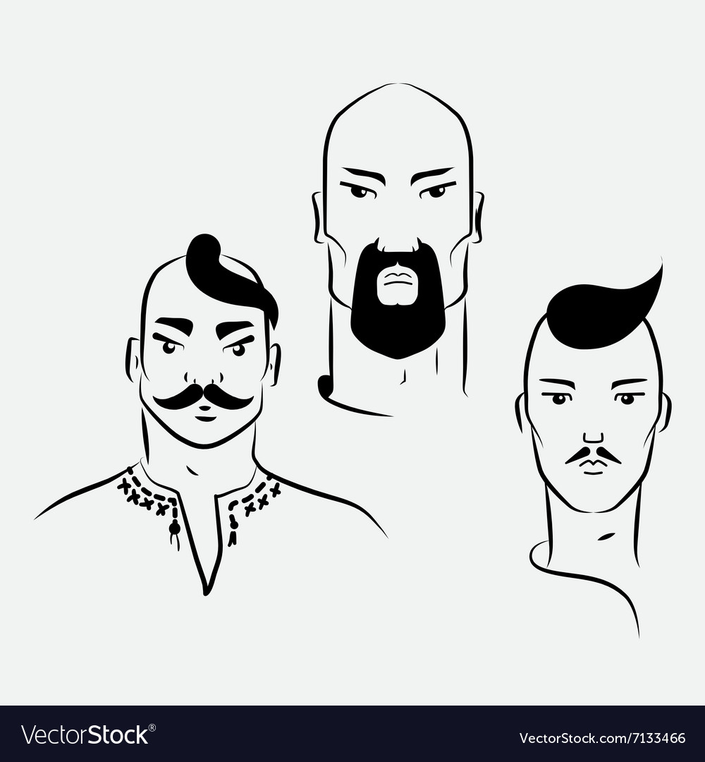 Three characters of ukrainian cossacks vector