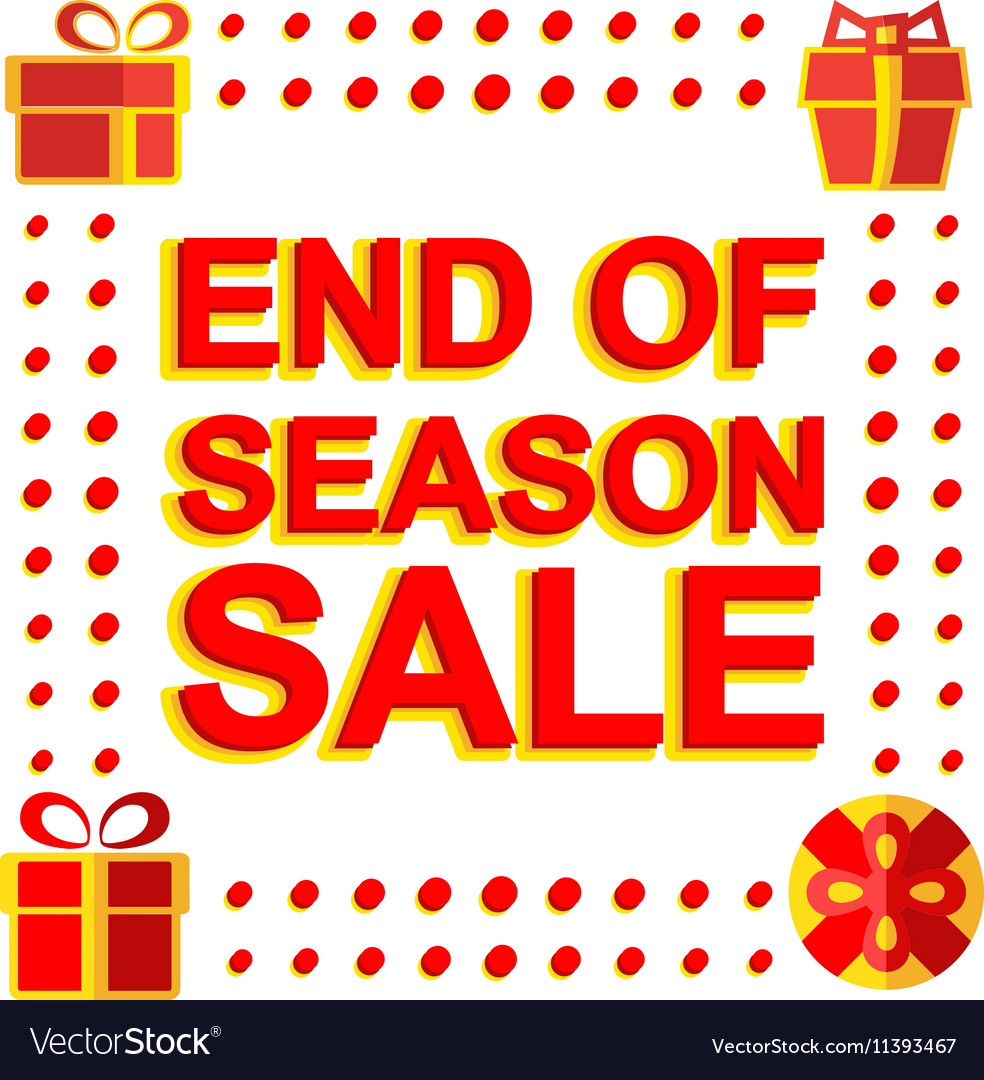 Big winter sale poster with end of season sale vector