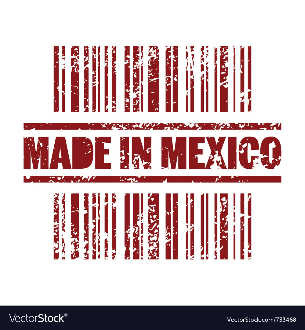 Made in mexico print icon vector