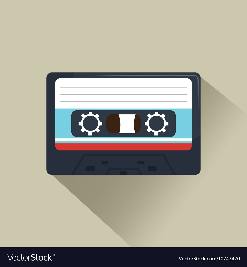 Cassette news record graphic vector