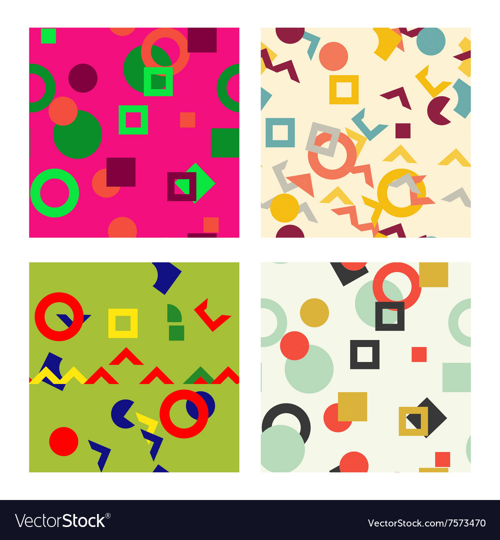 Colorful simple seamless pattern texture abstract vector