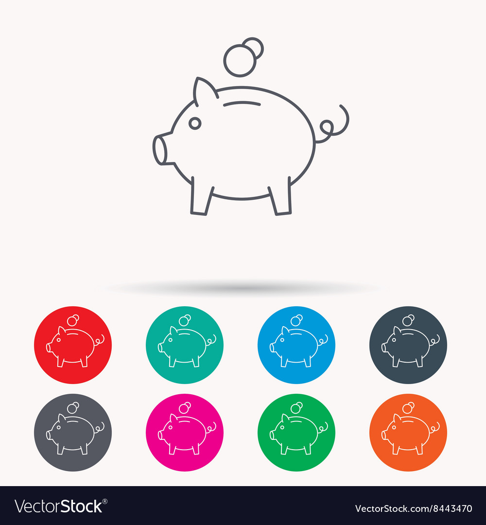 Piggy bank icon money economy sign vector