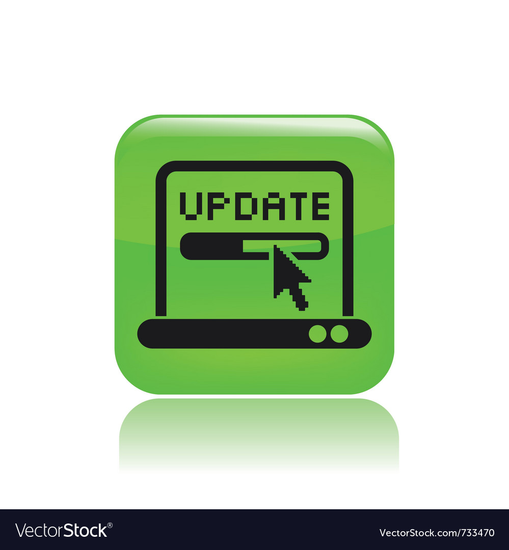 Update pc icon vector