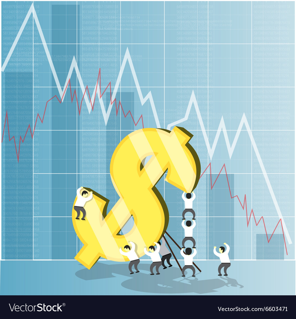 Concept for economy stock and currency market vector