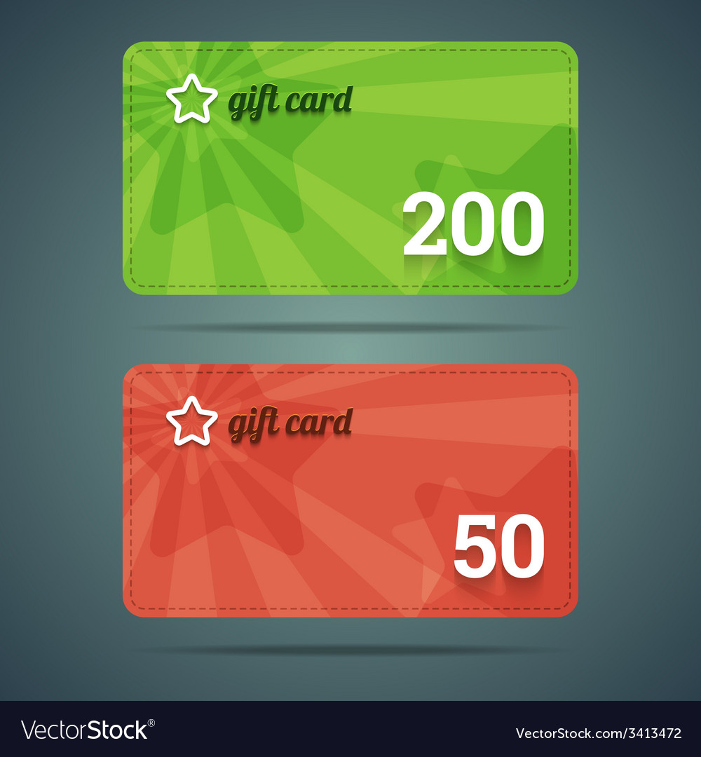 Gift card templates vector