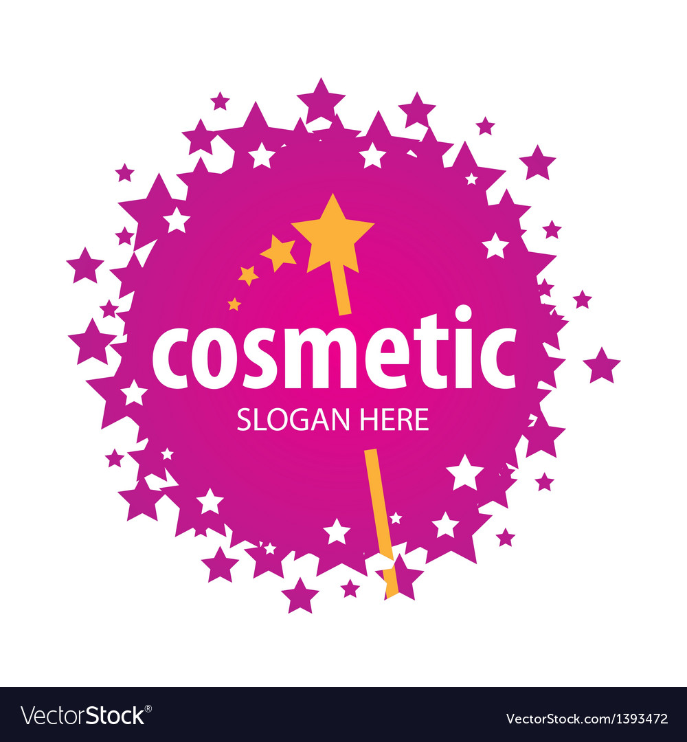 Red logo of the stars for cosmetics vector