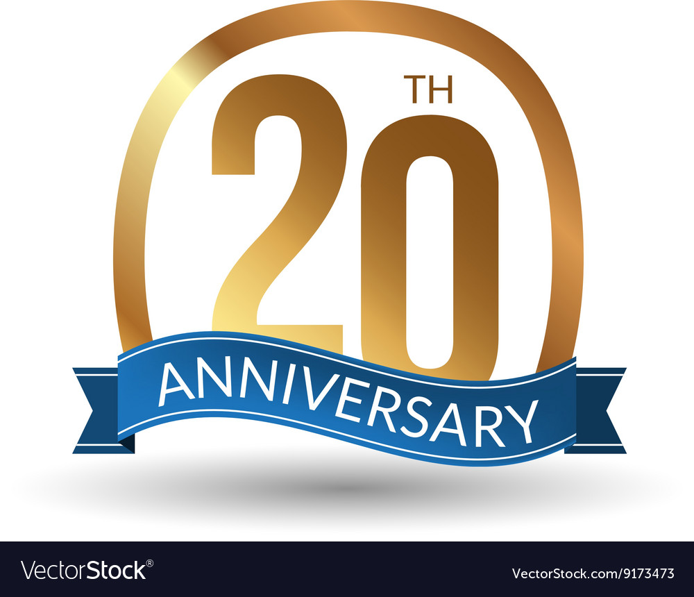 20 years anniversary experience gold label vector