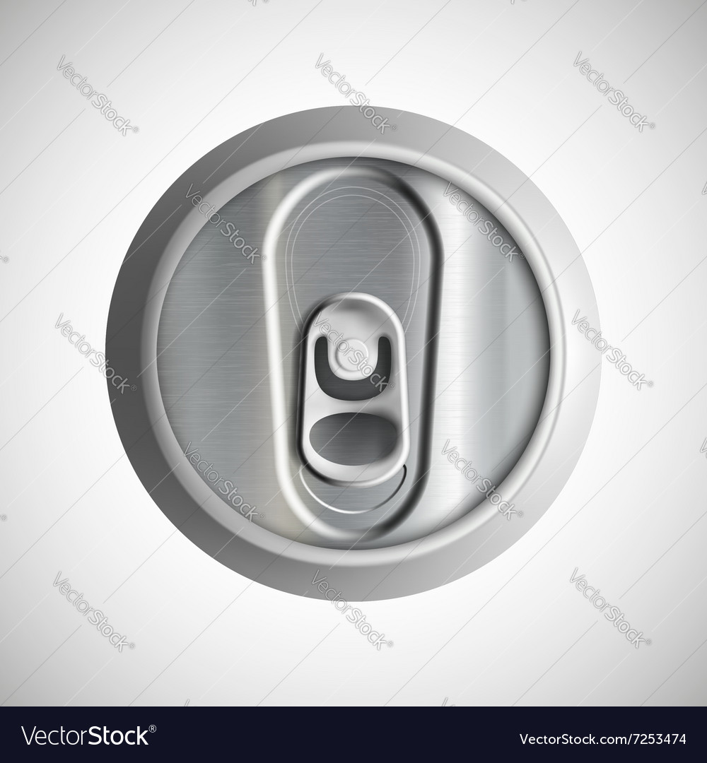 Metal can stock vector