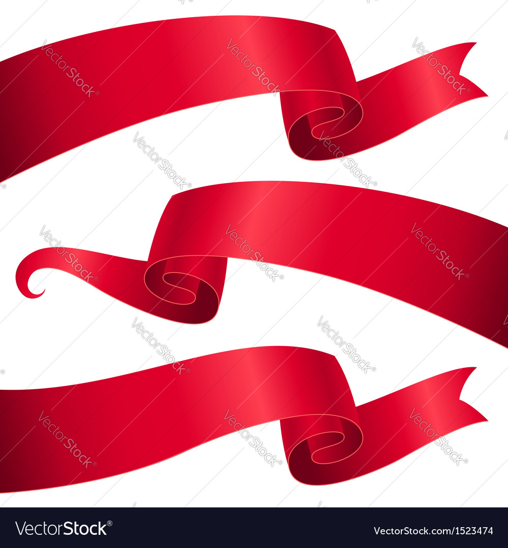Ribbon letterhead vector
