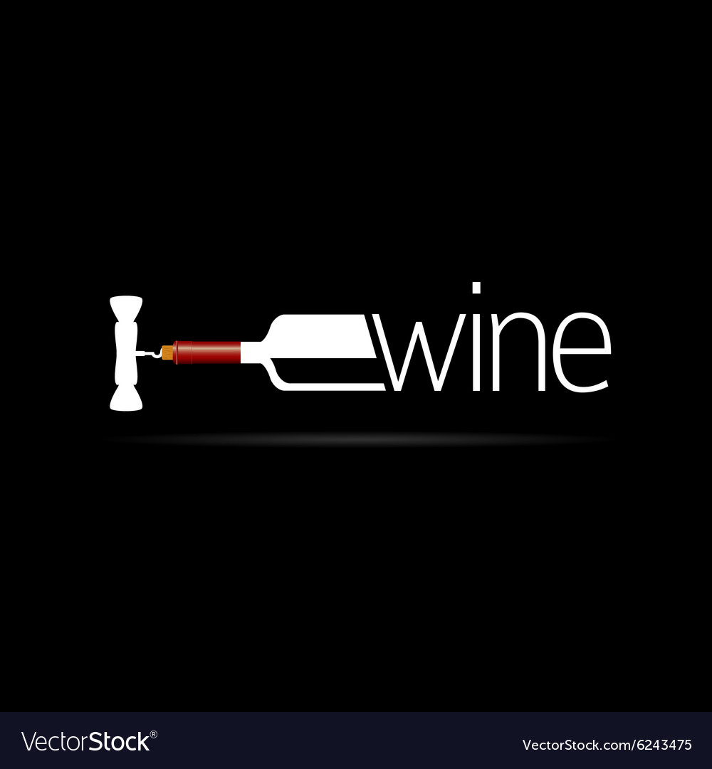 Bottle of wine icon silhouette vector
