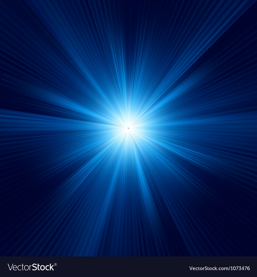 Blue color design with a burst eps 8 vector
