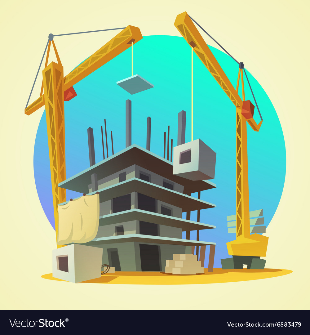 Construction concept cartoon vector