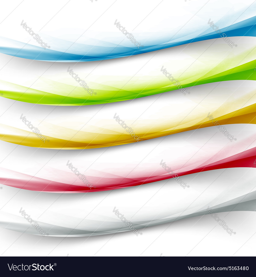 Transparent web colorful border collection vector
