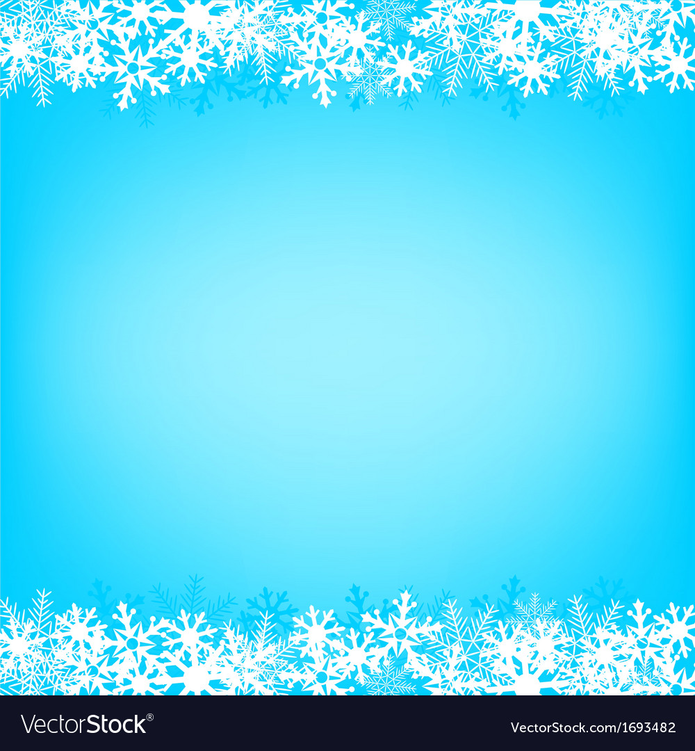 Blue snow background vector