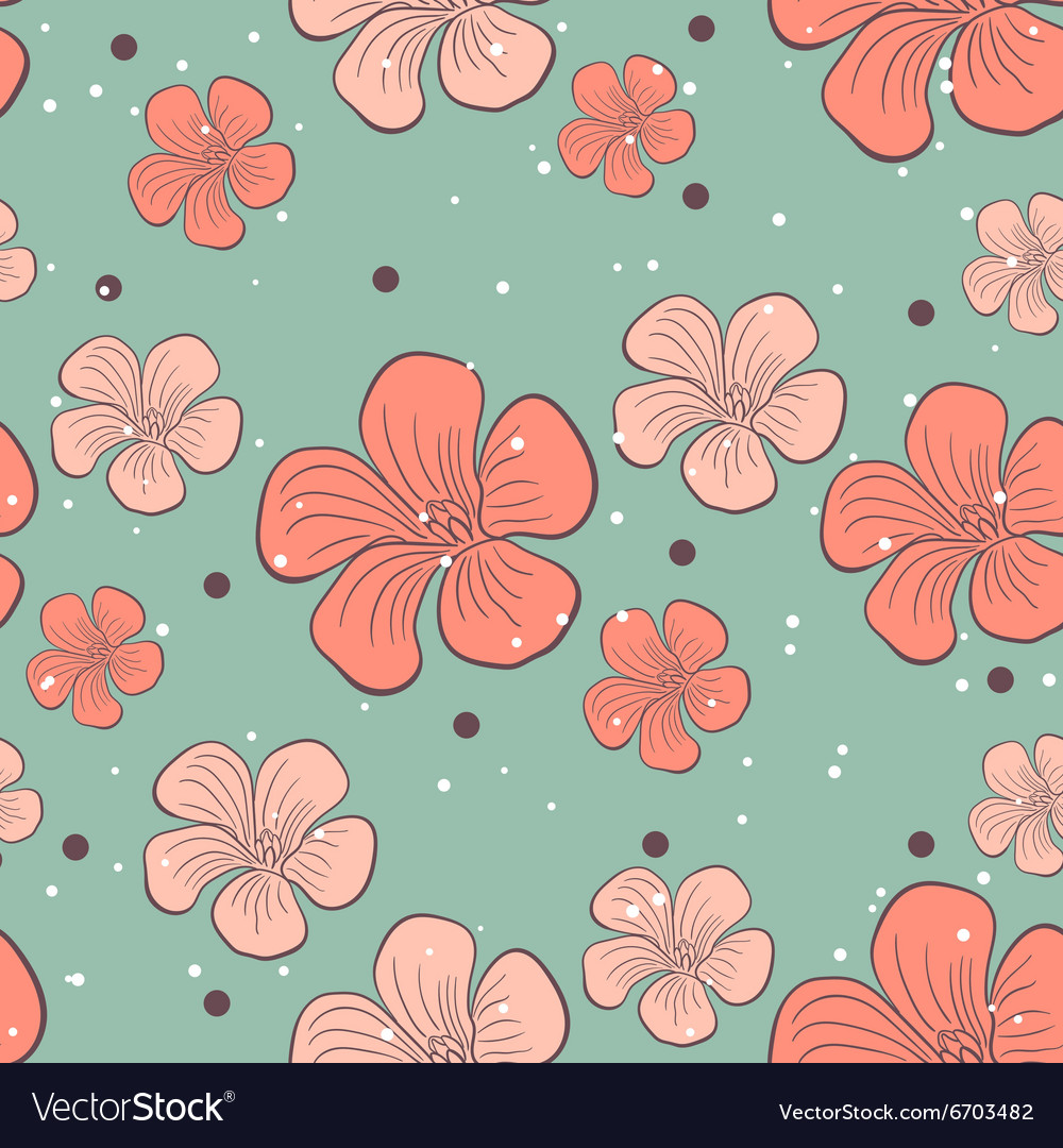 Floral seamless pattern 2 vector