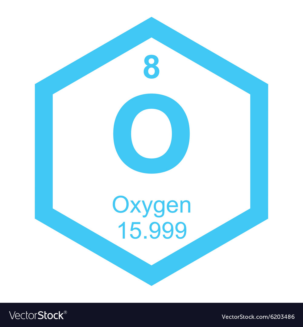 Periodic table oxygen vector