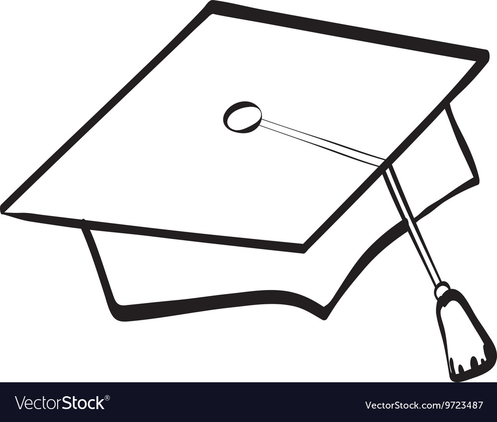 Graduation cap icon university design vector