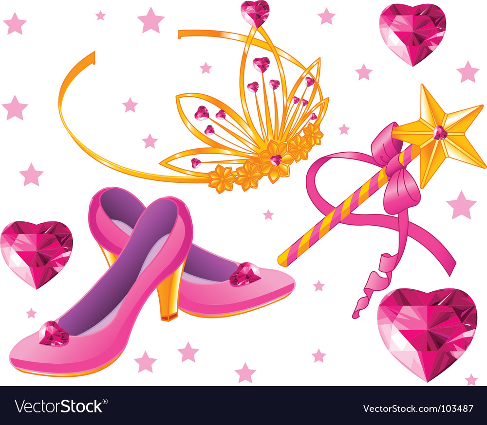 Princess collectibles vector